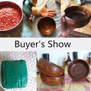 Image 5 - Creative Wooden Bowl Salad Ramen Soup Tableware Bowls Kids Food Container Instant Noodles For Kitchen Rice Tigelas Handmade