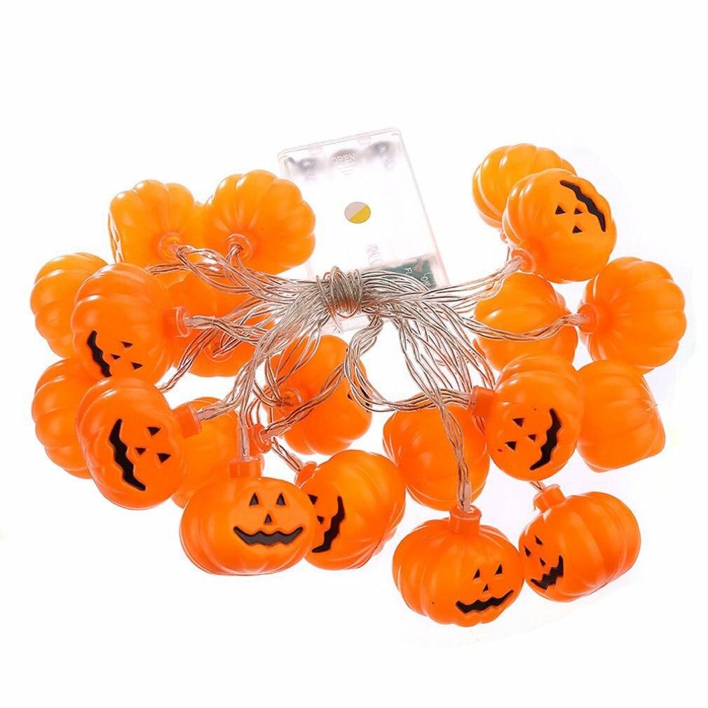 LED Lantern Halloween Holiday Lights String Manual DIY Pumpkin Light String Battery Ins Style Decorative Light String