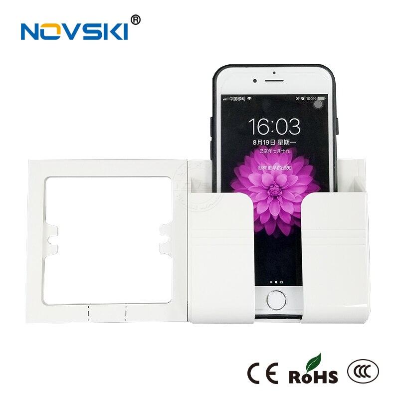 NOVSKI Electrical Wall Socket Mobile Phone 11 Holder Smartphone USB Charging Stand Rack Holders Plug Android IOS I Phones 11