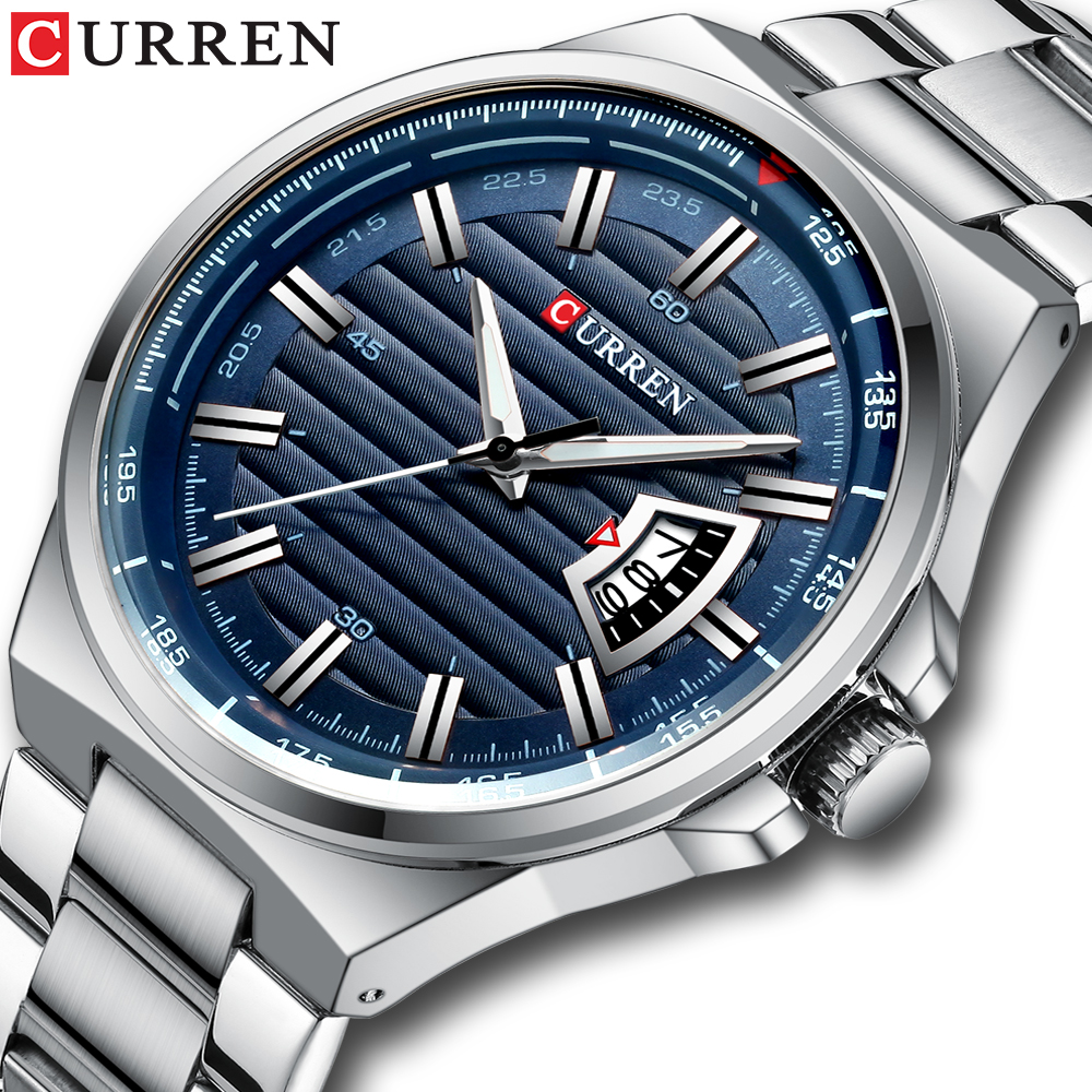 CURREN New Men Business Watch Full Steel Quartz Top Brand Luxury Sports Waterproof Casual Male Wristwatch Relogio Masculino