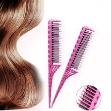 Peine para dientes de 3 filas, peine para desenredar, peine de cola de ratón, añadir volumen, peines de peluquería