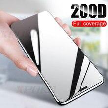 200D kavisli kenar koruyucu cam iPhone 7 8 6 6s artı temperli ekran koruyucu için iPhone 11 Pro X XR XS Max cam