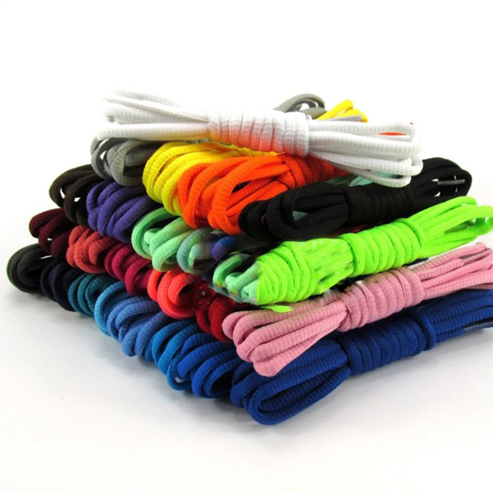 1Pair 130cm Unisex Multicolor Oval Athletic Shoelaces Sports Outdoor Sneakers Boots Shoe Laces Strings Shoe Rope Casual Shoelace