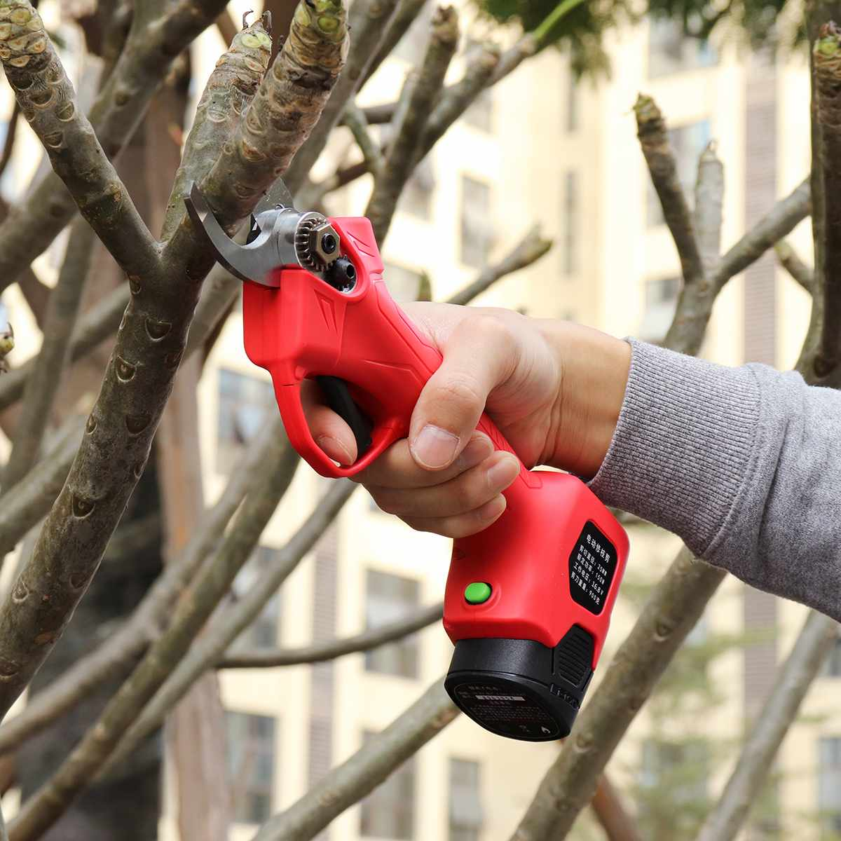 Wireless 16.8V 25mm Electric Garden Scissor for Brach Pruning with Li-ion Battery and USB Charger 15