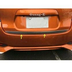 Dla Nissan NOTE 2017 2018 2019 2020 samochodów ze stali nierdzewnej na tylne drzwi licencja tylna ramka bumpera listwa wykończeniowa lampa bagażnika 1 sztuk
