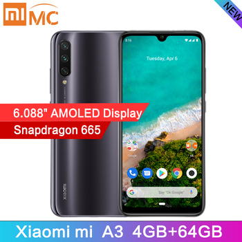 Newest Global Version Xiaomi Mi A3 Snapdragon 665 Octa Core 4GB 64GB Cellphone 6.088