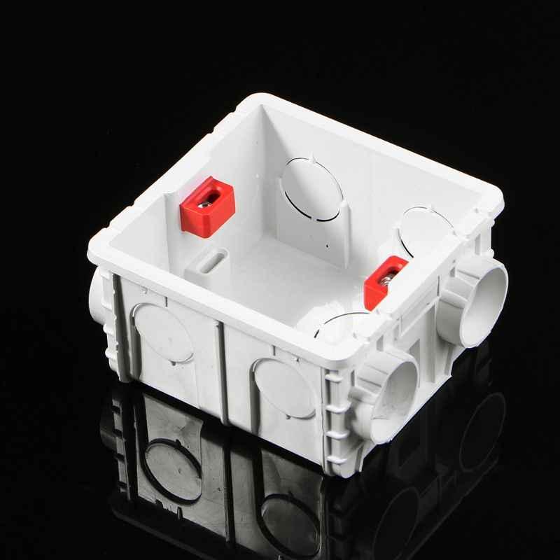86-نوع صندوق وصلات بلاستيك جدار جبل كاسيت لقاعدة مقبس التبديل