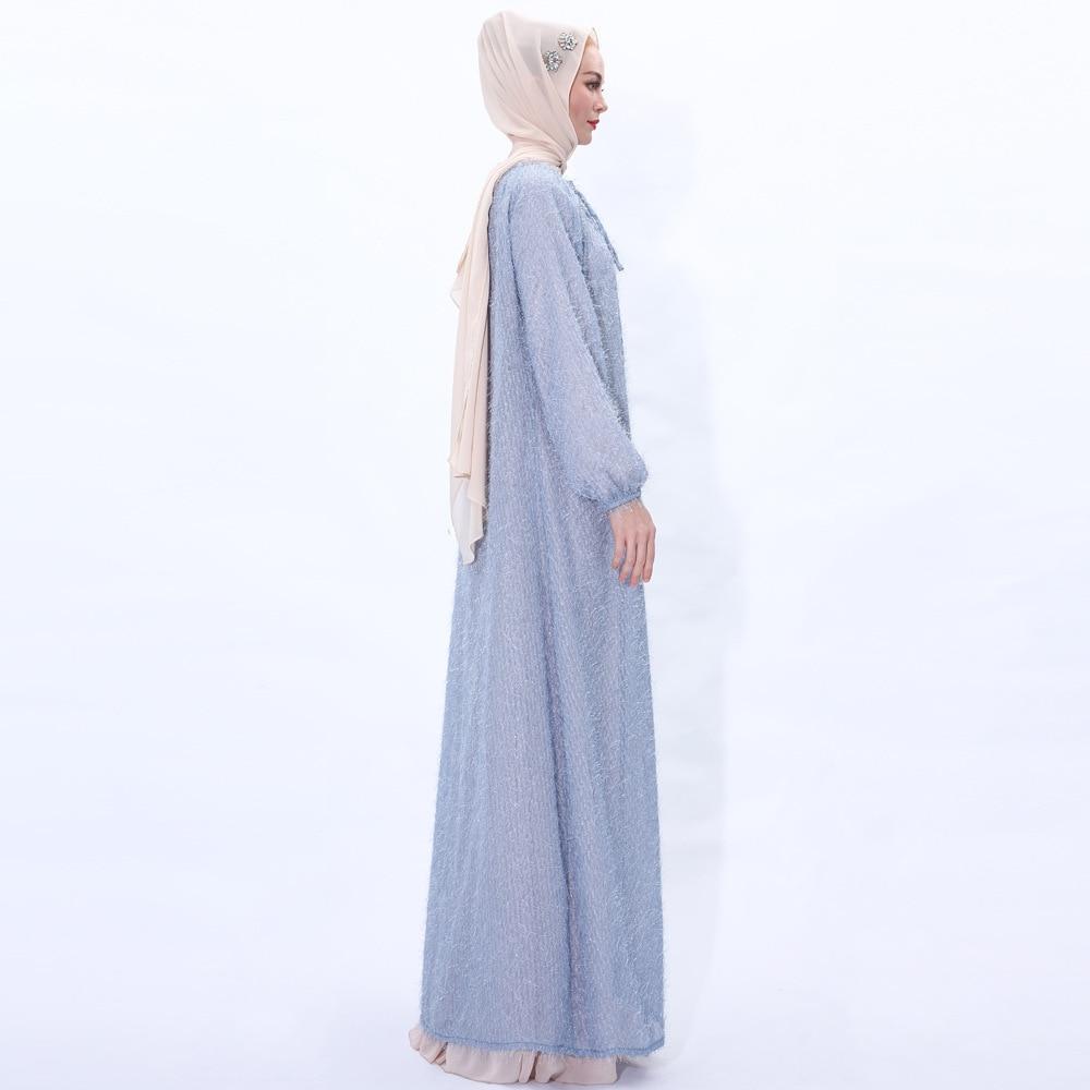 Купить новая модная накидка верхняя одежда синее кружевное мусульманское