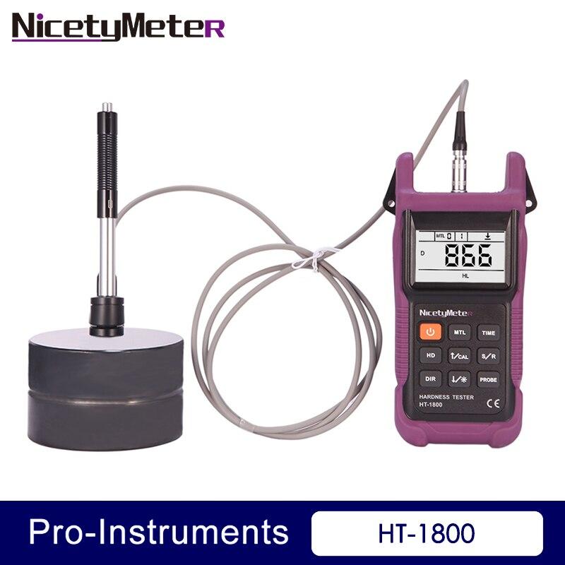 Nicety HT-1800 Portable Rebound Leeb Hardness Tester Meter Durometer HT1800 for Metal Steel