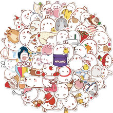 50 pçs/set Bonito Molang Coelho Anime Japonês PVC Impermeável Adesivos Scrapbooking DIY Papelaria Adesivo Kawaii Jounal Adesivos