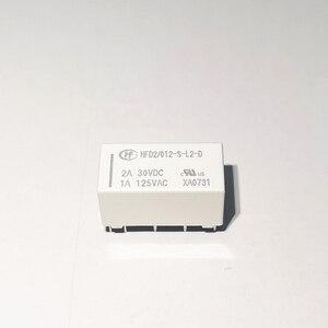 Image 2 - 10 pçs/lote Relés HFD2 012 S L2 D HFD2 005 S L2 D HFD2 024 S L2 D 1A 10PIN relé de travamento Magnético