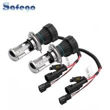 Safego 1 זוג H4 AC 35W HID Bixenon רכב פנס נורות H4 3 HID Bi קסנון מנורת Hi/Lo קרן 4300K 6000K 8000K 12V 3200LM