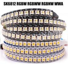 Dc5v sk6812 rgbw rgbww rgbnw wwa conduziu a luz de tira 4 em 1 ws2812b similar 1m 2m 5m 30 60 144 diodos emissores de luz endereçável individual