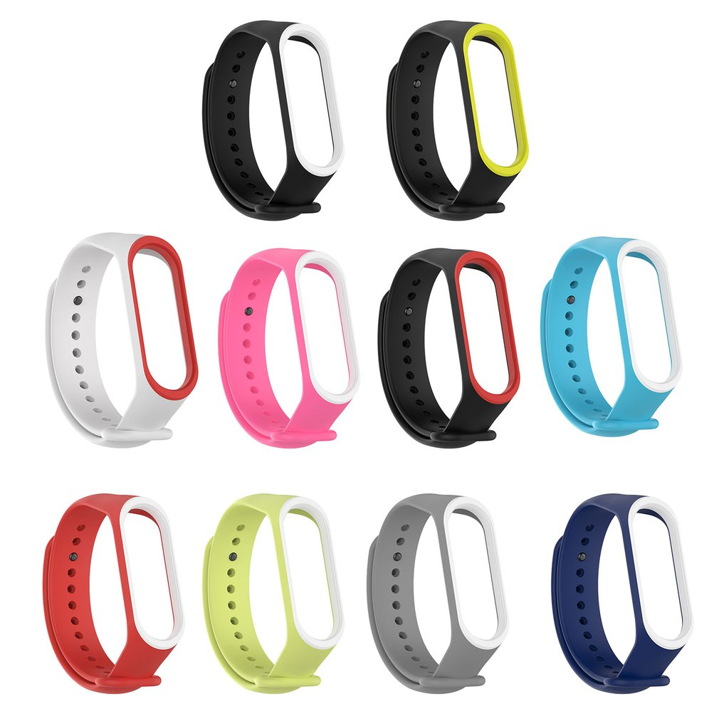 2 Colors Wrist For Mi Rubber For Band 4 Wristband Smart Sports Bracelet Wristband Strap Smart Ring Accessories
