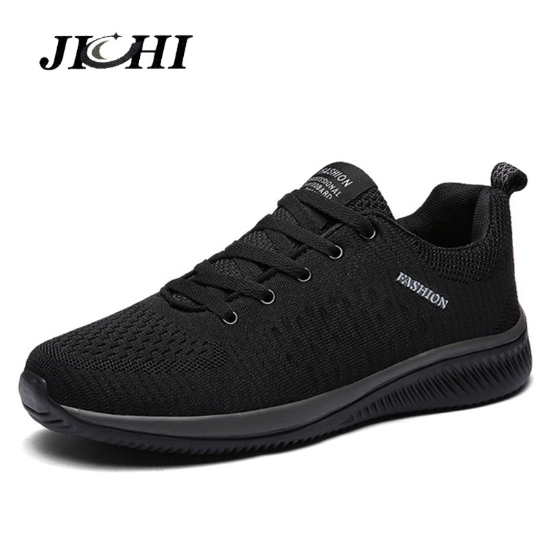Comfortable Casual Shoes Men Breathable Walking Shoes Lightweight Sneakers Black Footwear Men Lace Up Running Shoes Men Big Size