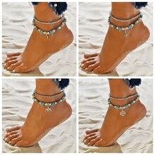 2019 Summer Starfish Pendant Anklets For Women Beads Shell Bohemian On Leg Bracelets Ocean Jewelry