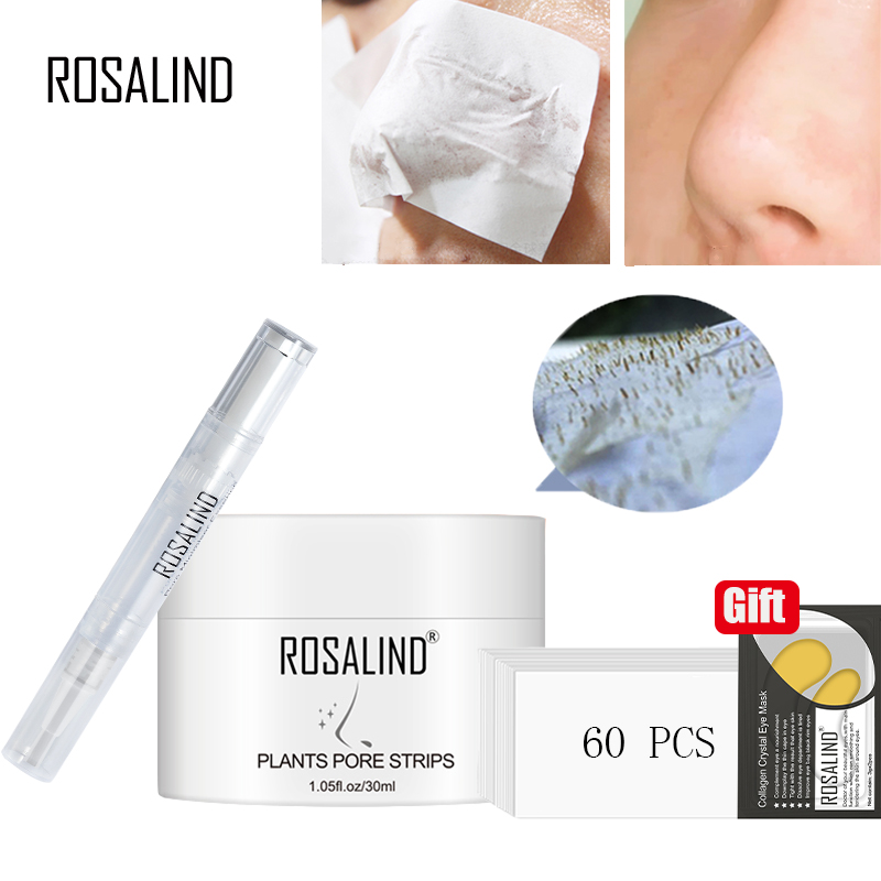 ROSALIND Face Masks Facial From Black Dots Remove Deep Cleaning Blackhead Nose Peeling Off Shrink Pore Lifting Cream Skin Care