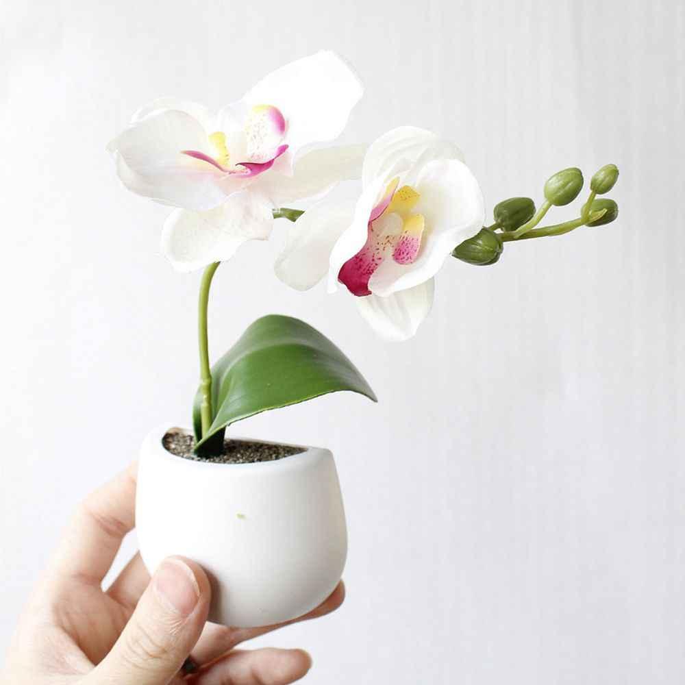 Etiquettes Mini bonsaï aimants succulentes   Autocollant à bouton magnétique en pot plante de Simulation réfrigérateur Message, décoration de maison
