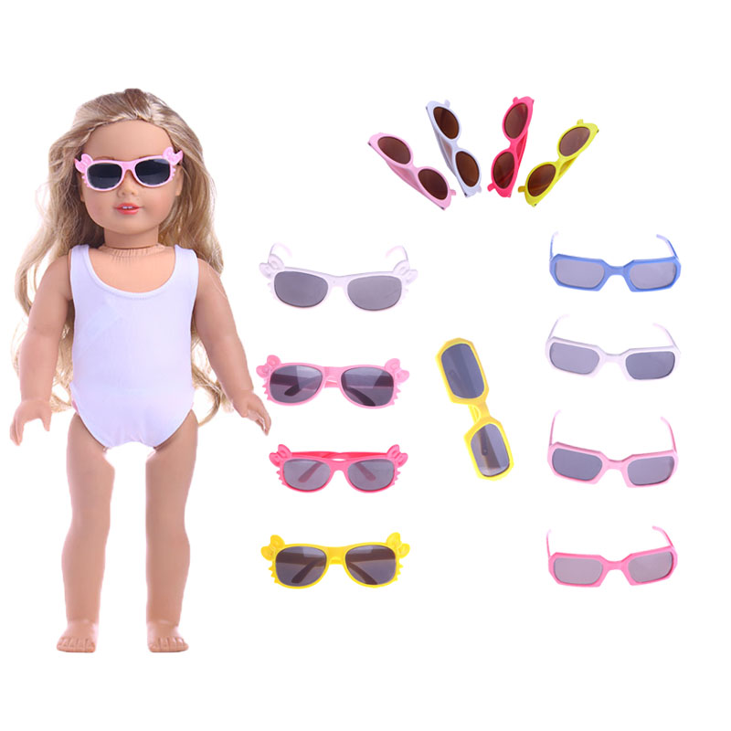 American Doll Cool Glasses PET Sunglasses For 18-inch Dolls And 43 Cm Dolls Reborn DIY American Girl Toy Photography Props