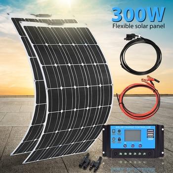 Xinpuguang Solar Panel 300W 150w Semi-flexible Monocrystalline Solar Cell DIY Module Outdoor 12v Battery Charger Waterproof