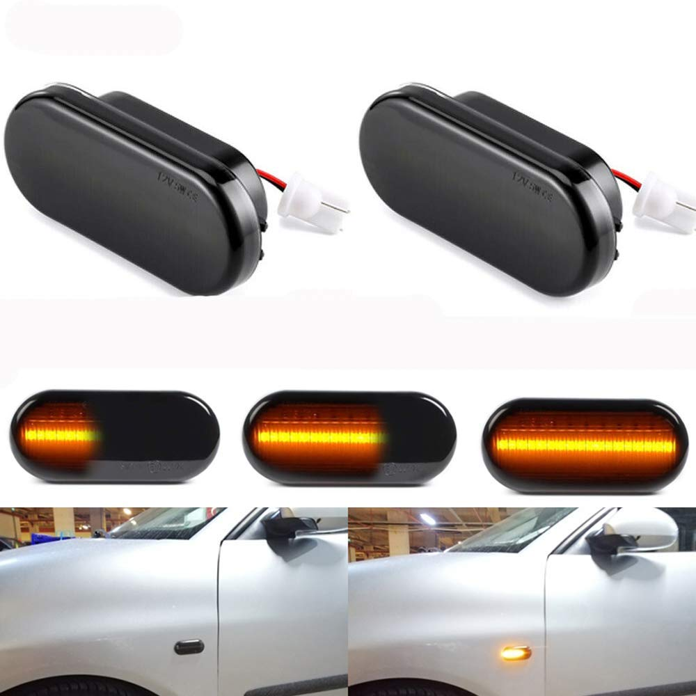 Smoked Dynamic Sequential LED Side Turn Signal Indicator Lights Lamp For Volkswagen T5 Amarok Caddy 2K 2015 Pre facelift Fox UpSignal Lamp   -