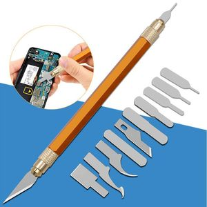 13pcs Blades Steel Craft Artwork Sculpture Knife with Handle Carving Stencil DIY M7DA(China)