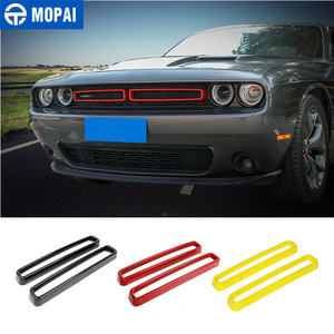 Image 1 - MOPAI Car Grille Air conditioning Vent Decoration Cover Stickers for Dodge Challenger 2015+ Exterior Accessories
