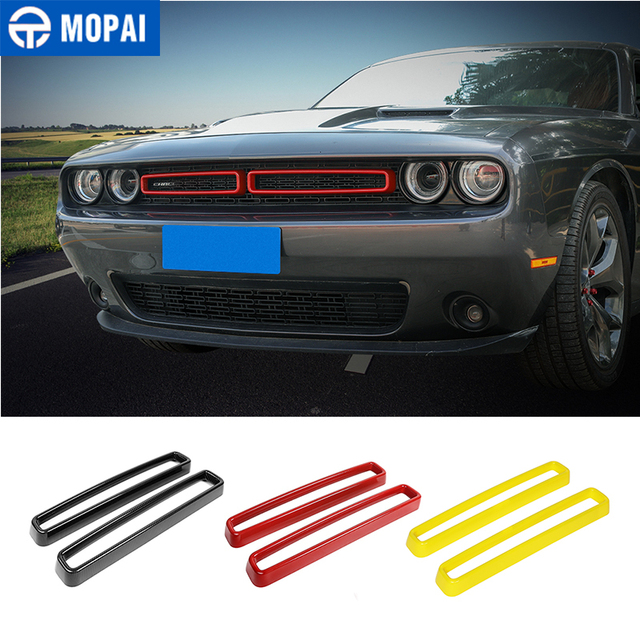 MOPAI Car Grille Air conditioning Vent Decoration Cover Stickers for Dodge Challenger 2015+ Exterior Accessories