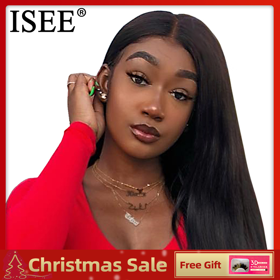 Straight Lace Front Wigs For Women 13X4 Remy Brazilian Human Hair Wigs 150%Density ISEE HAIR Straight Lace Front Human Hair Wigs