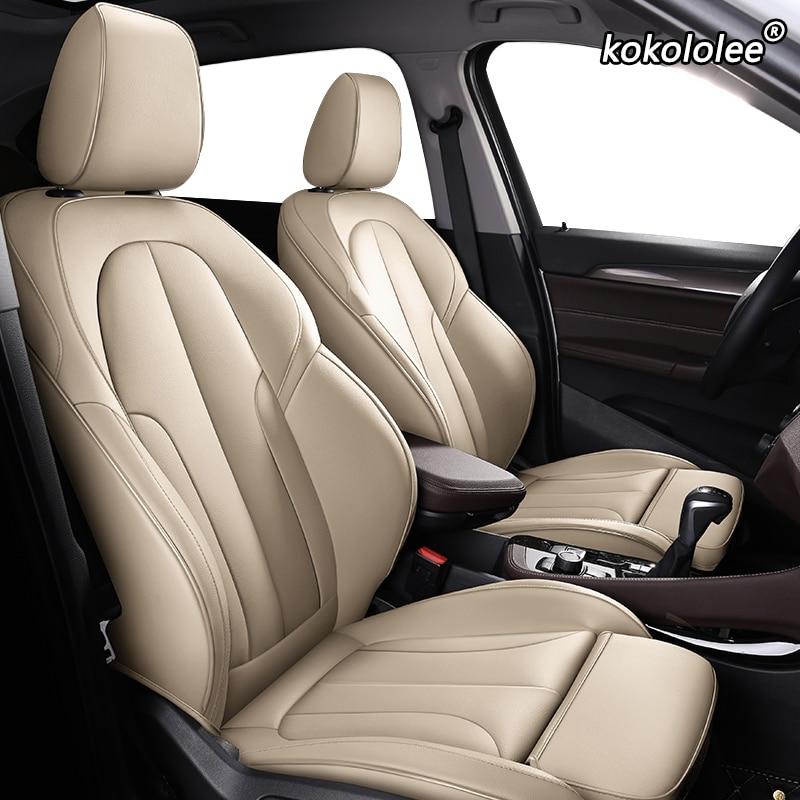 kokololee Custom Leather car seat cover For Honda Accord Odyssey FIT CR-V XR-V civic CITY Crosstour Crider VEZEL AVANCIER covers