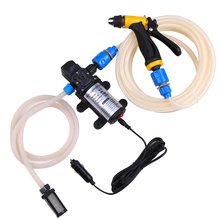цена на 12V 80W Car Wash Car Washer Gun Pump High Pressure Cleaner Car Care Portable Washing Machine Electric Cleaning Auto Device