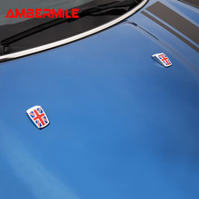 AMBERMILE for Mini Cooper R55 R56 R60 R61 F54 F55 F56 Accessories Car Windshield Water Spray Nozzle Covers Stickers Car Styling