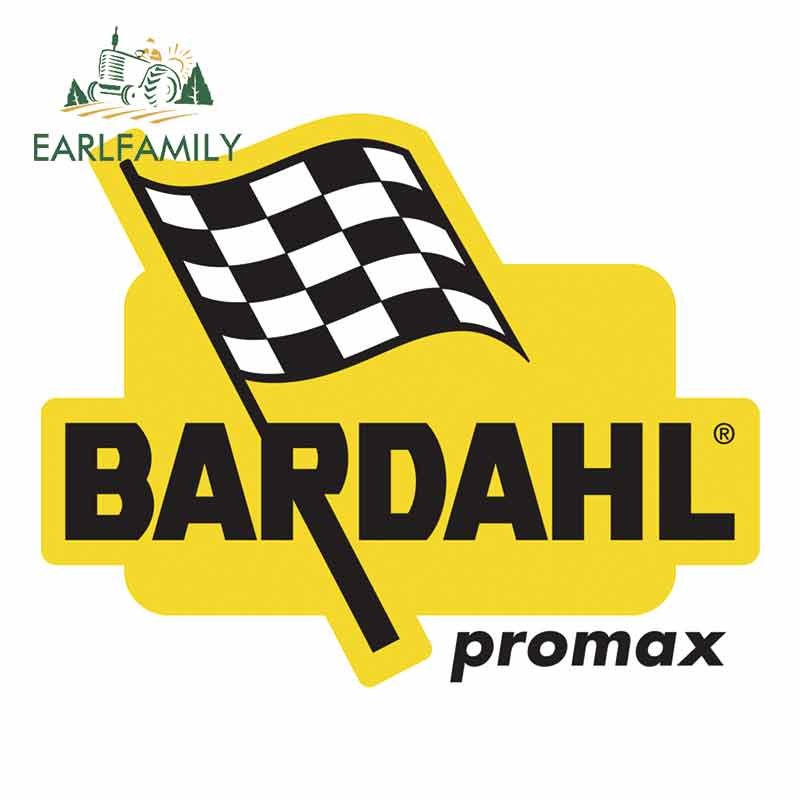 EARLFAMILY 13cm X 10.6cm For Bardahl Promax Creative Car Sticker Fashion Personality Occlusion Scratch Repair Waterproof Decal