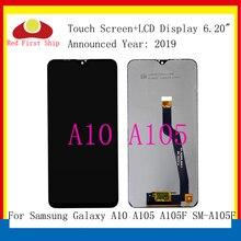 10 יח\חבילה מקורי לסמסונג גלקסי A10 A105 A105F SM A105F LCD תצוגת מסך מגע Digitizer עצרת החלפת A10 LCD