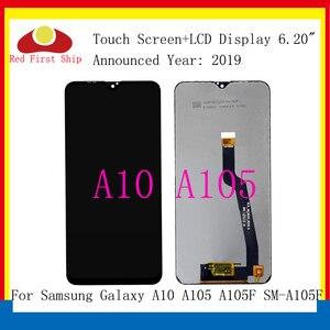 Image 1 - Оригинальный сенсорный ЖК дисплей 10 шт./лот для Samsung Galaxy A10 A105 A105F, дигитайзер сенсорного экрана в сборе, замена A10 LCD