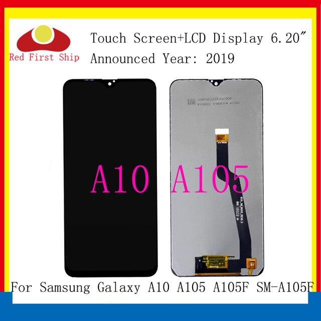10 sztuk/partia oryginalny do Samsung Galaxy A10 A105 A105F SM A105F wyświetlacz LCD ekran dotykowy wymiana Digitizer zgromadzenie A10 LCD