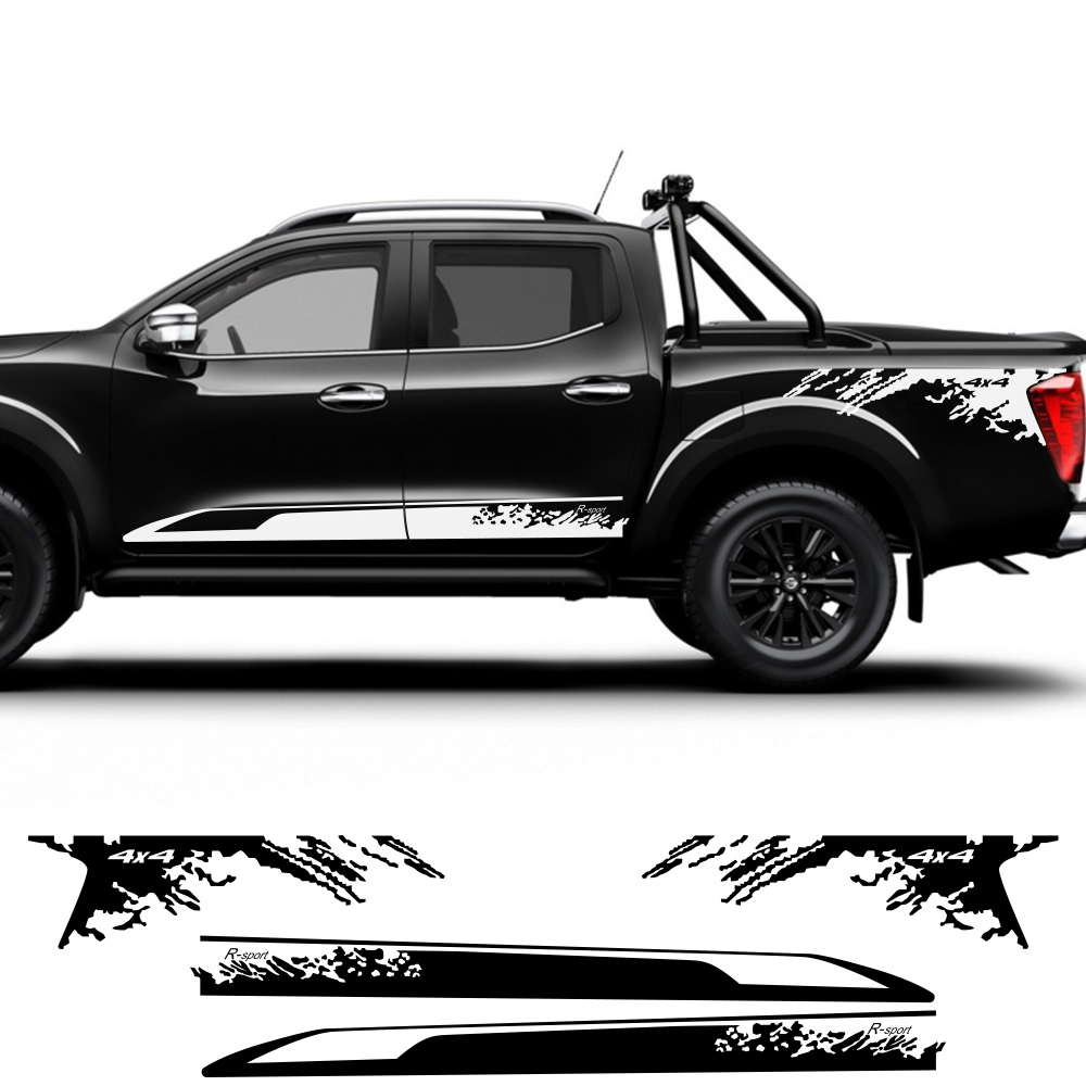 2PCS Auto Vinyl Film Decoration Decals For Nissan NAVARA NP300 DIY Car Door Side Stickers Sport Styling Car Tuning Accessories