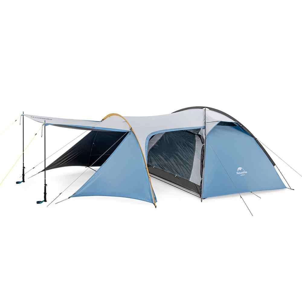 Naturehike 2-3 شخص الأسرة خيمة التخييم كبيرة/غرفة نوم واحدة غرفة المعيشة خيمة الأنفاق/UPF 50 +