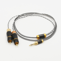 3.5mm Stereo to 2 RCA Cable Hi end 3.5mm to Dual RCA Cable for amplifier Phone Edifer Home Theater DVD