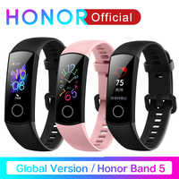 Global Version Honor Band 5 Band5 Smart Wristband Blood Oxygen Real Time Heartrate Monitor 0.95'' AMOLED Screen 5ATM Waterproof