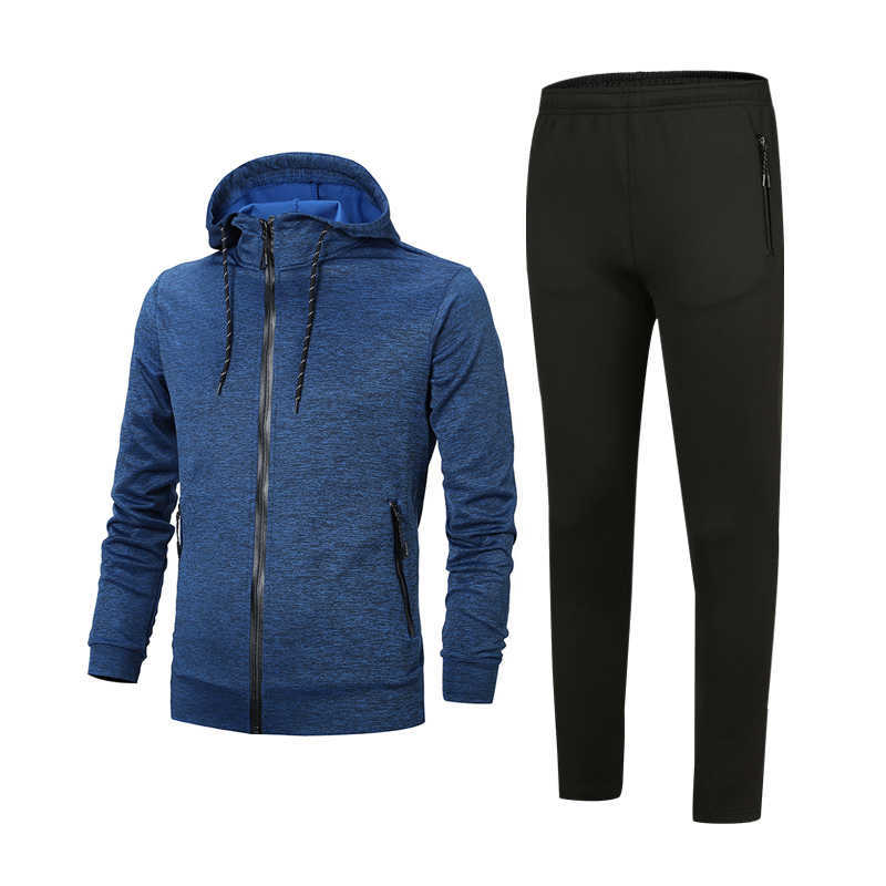 Office Version Spring And Autumn Men's Hooded Sports Leisure Suit Men's Sports Clothing Hoodie Suit Jogging Suits