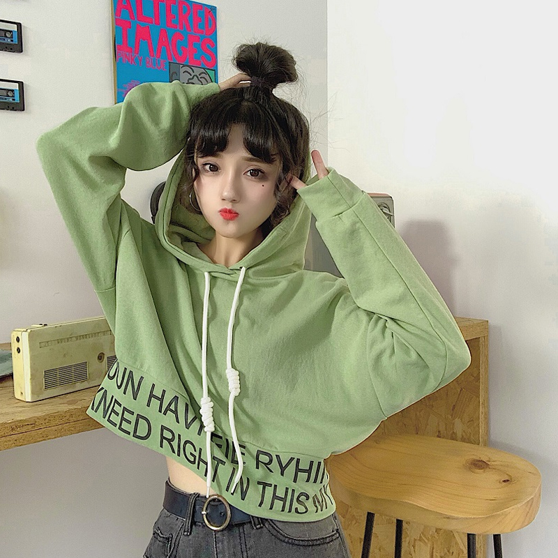 sweet hooded letter loose full Korean style Spring and autumn ladies tops Women's Clothing fashion brand high quality Hoodies 3