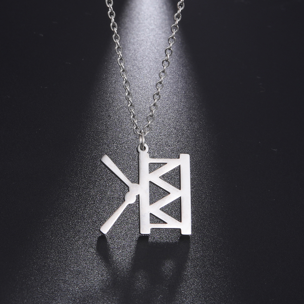 My Shape Drum Kit Musical Instrument Necklace