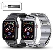 Metall Strap für Apple Uhr Band 44mm 42mm 40mm 38mm Edelstahl Armband für für iWatch 6 SE 5 4 3 2 1 Serie Zubehör