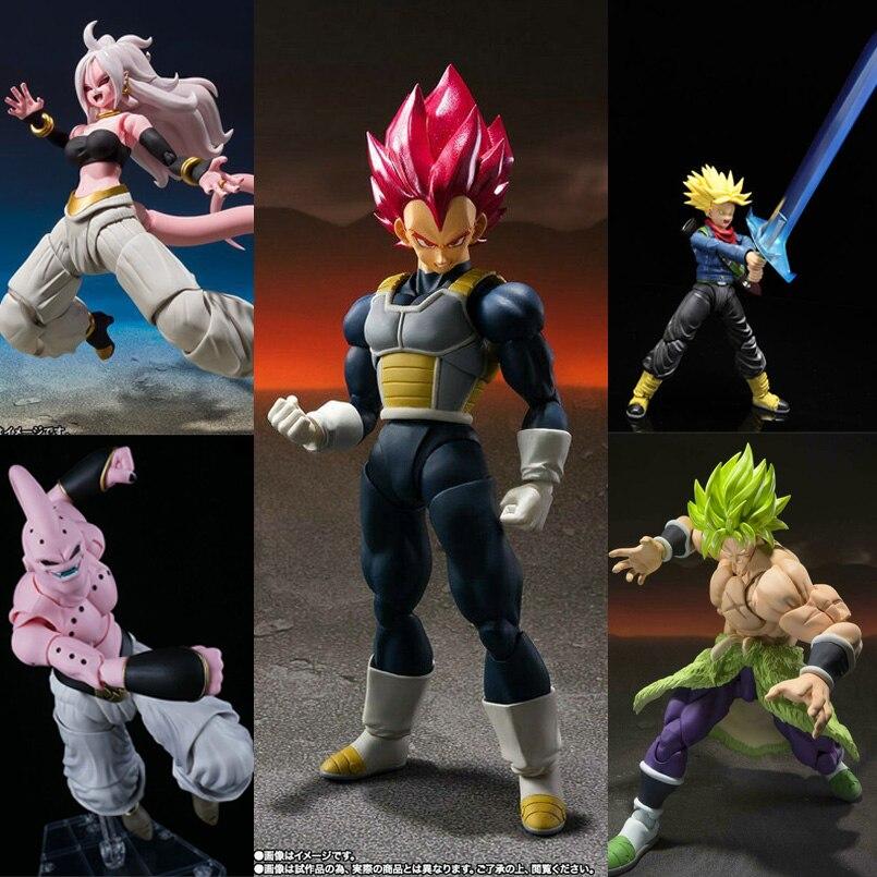 19 cm SHF Dragon Ball Anime Super Vegeta PVC Model Toy Broli Majin Buu Vegeta Trunks Action Figure Collection Toys Original Box|Action & Toy Figures| |  - AliExpress