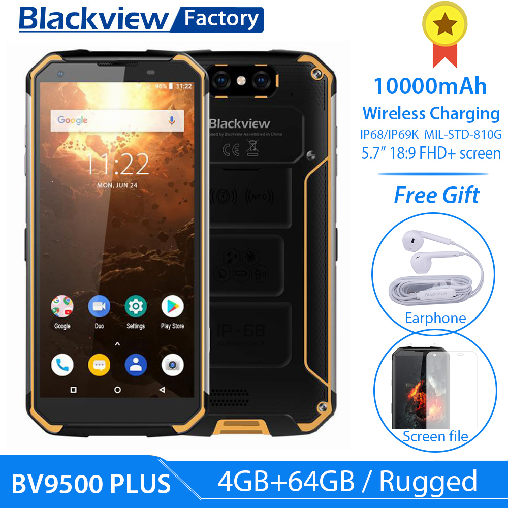 Blackview Helio P70 Bv9500-Plus 10000mah Smartphone 64GB WCDMA/GSM/LTE NFC Adaptive Fast Charge