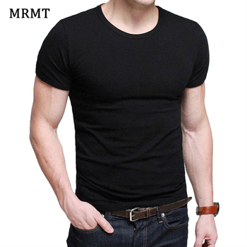 Lycra Men'S T Shirt Short Sleeve T-Shirt O-Neck Slim Solid Color Half Sleeved Tee 2020 MRMT - discount item  52% OFF Tops & Tees