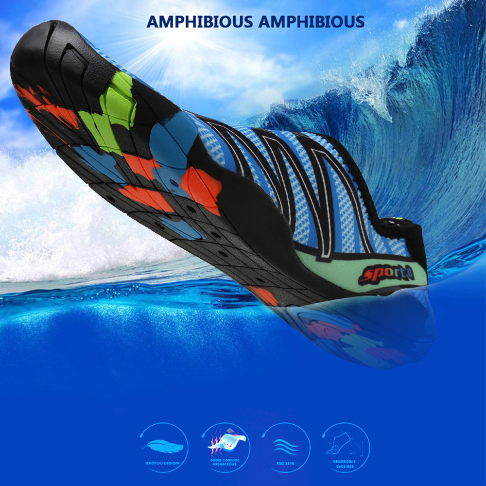Diving Wading Shoes Coral Slippers Swimming Beach Soft Breathable Seaside Shoe For Men Women Outdoor Sports Upstream Aqua Shoes