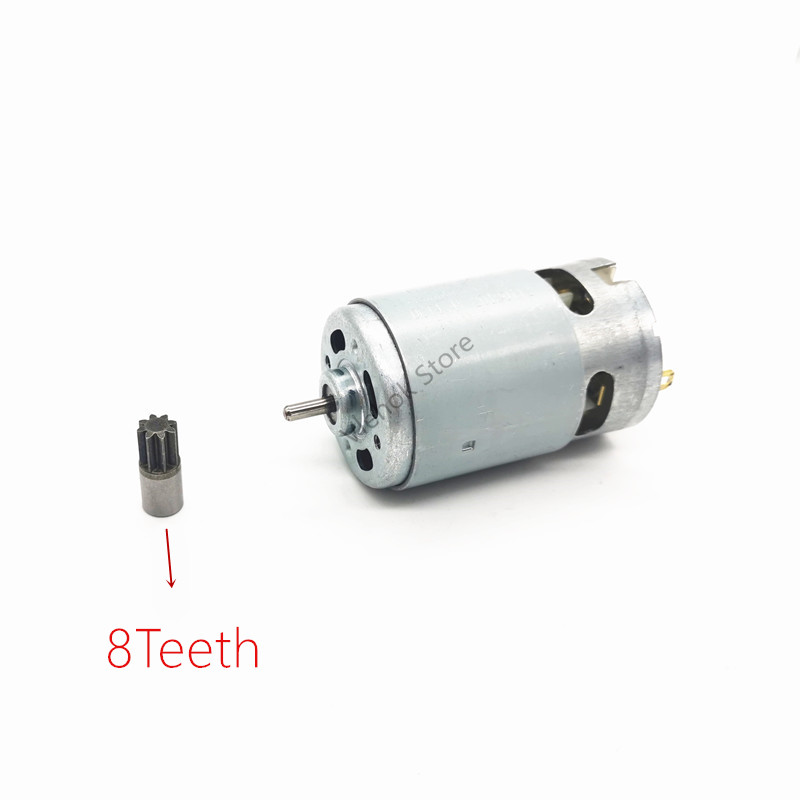 8Teeth RS550 7.2V 9.6V 10.8V 12V 14.4V 16.8V 18V 21V 24V 25V Motor For WORX BOSCH DeWALT HITACHI MAKITA METABO Milwaukee Hilti
