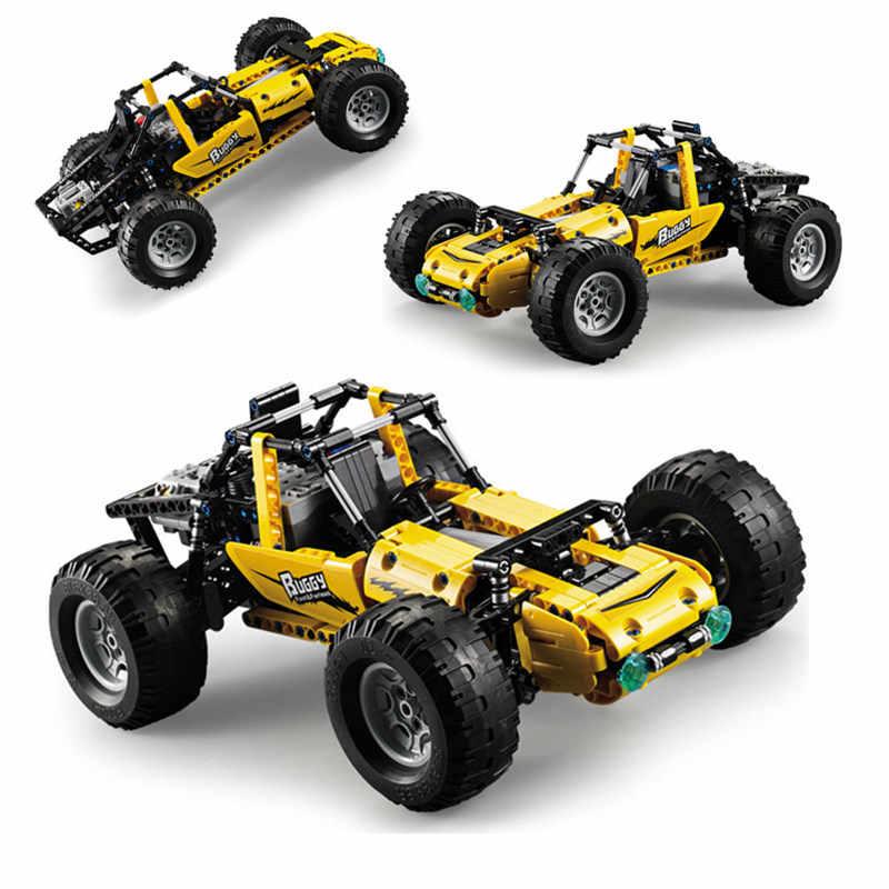 חדש PUBG RC כוח פונקצית מירוץ רכב באגי כל-השטח מחוץ טיפוס רכב Fit Legoings טכני בניין לבני בלוק צעצוע
